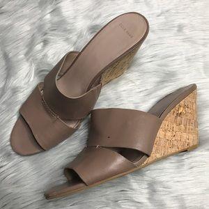COLE HAAN Acoma Slip On Cork Wedge Sandal